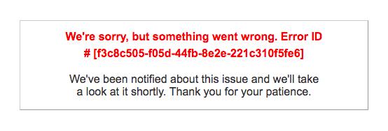 CRM Portal error