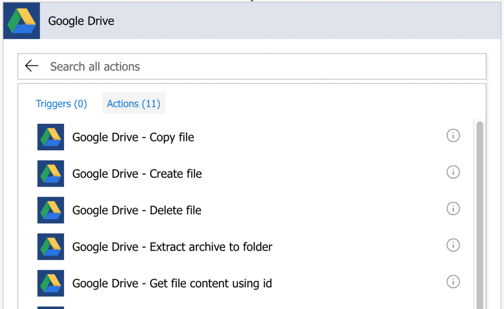 Google Drive Actions in Flow