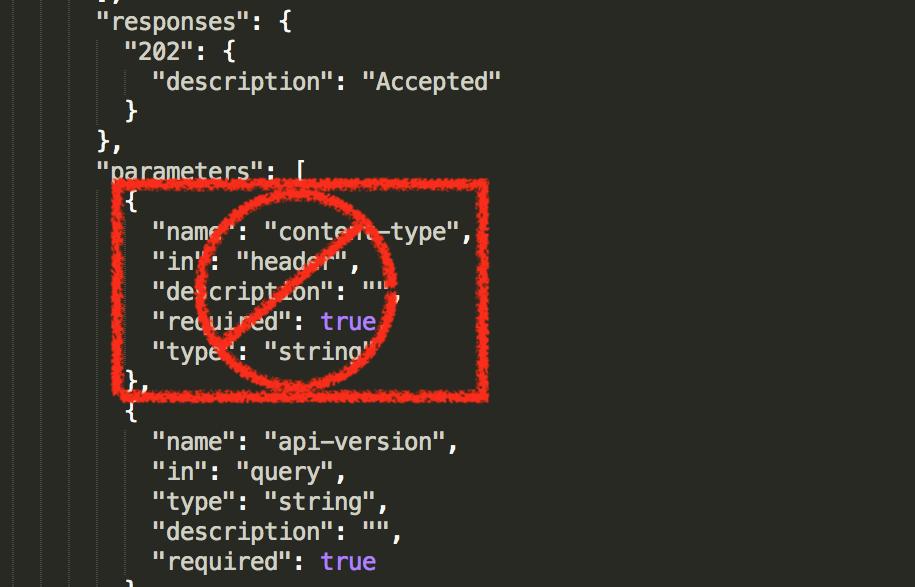 Remove content-type