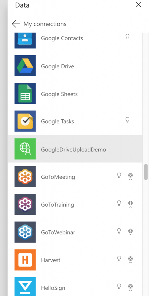 Custom connector in PowerApps