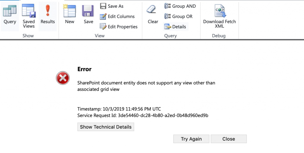 SharePoint Document in Advanced Find